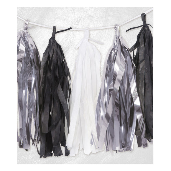 Wholesale Silver / Black / White Tassel Garland