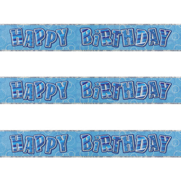 Wholesale Blue Happy Birthday Banner