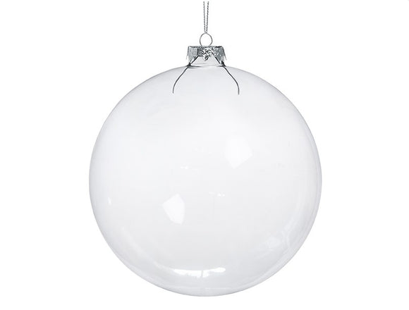 Wholesale Clear Glass Baubles (15cm)
