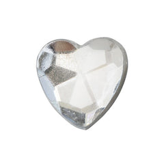 Self Adhesive Heart Diamantes (Clear)