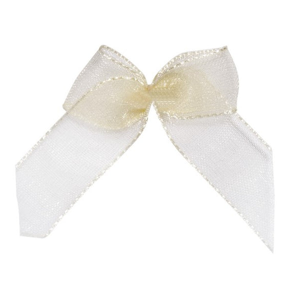 Wholesale Decorative Adhesive Bows (Ivory)