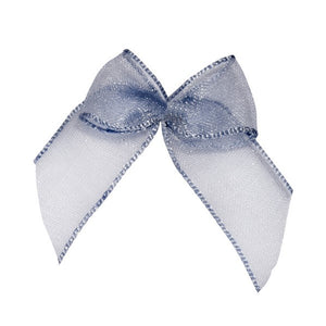 Wholesale Decorative Adhesive Bows (Silver)