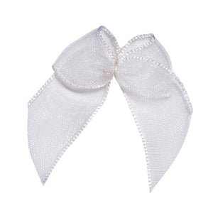 Wholesale Decorative Adhesive Bows (White)