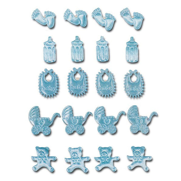 Wholesale Self Adhesive Baby Embellishments (Blue)