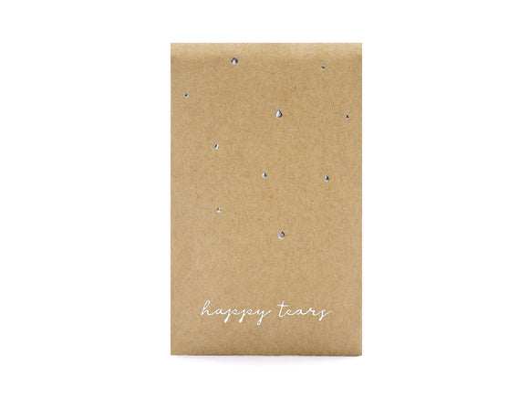 Wholesale Pocket Tissues happy Tears, Silver