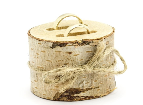 Wholesale Rustic Wooden Ring Holder Ring Cushion