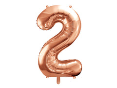 "Number Balloon '2' - 34"" (Rose Gold)"
