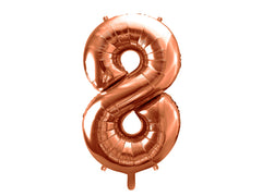 "Number Balloon '8' - 34"" (Rose Gold)"
