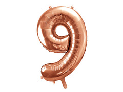 "Number Balloon '9' - 34"" (Rose Gold)"