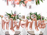 Foil Mr & Mrs Balloon - Rose Gold