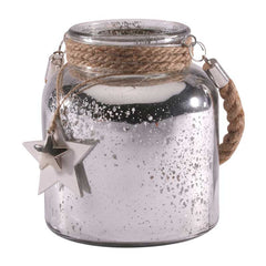 Silver Speckled Hanging Candle Jar
