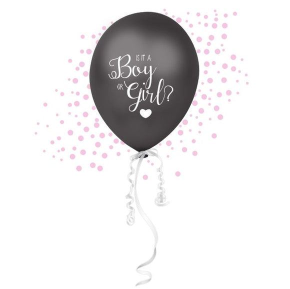 Wholesale 'Oh Baby' Gender Reveal Confetti Balloon (Pink)