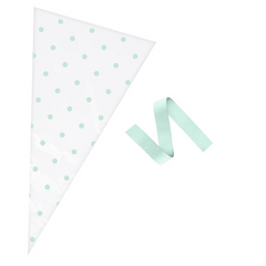 'Oh Baby' Polka Dot Cone Bags (Mint / Clear) - Unisex