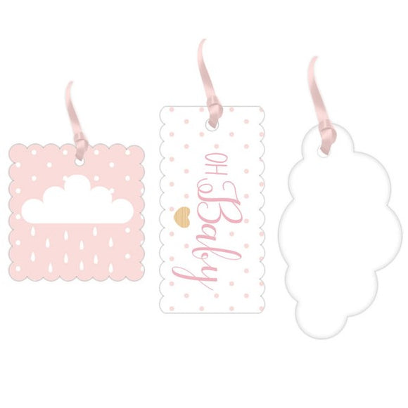 Wholesale 'Oh Baby' Gift Tags (Pink)