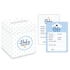 'Oh Baby' Prediction Cards and Post Box (Blue)