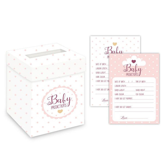 Wholesale 'Oh Baby' Prediction Cards and Post Box (Pink)