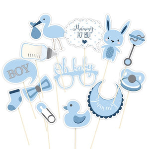 Wholesale 'Oh Baby' Photo Booth Props (Blue)
