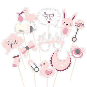 Wholesale 'Oh Baby' Photo Booth Props (Pink)
