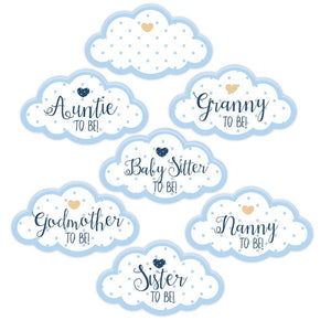 Wholesale 'Oh Baby' Guest Stickers (Blue)