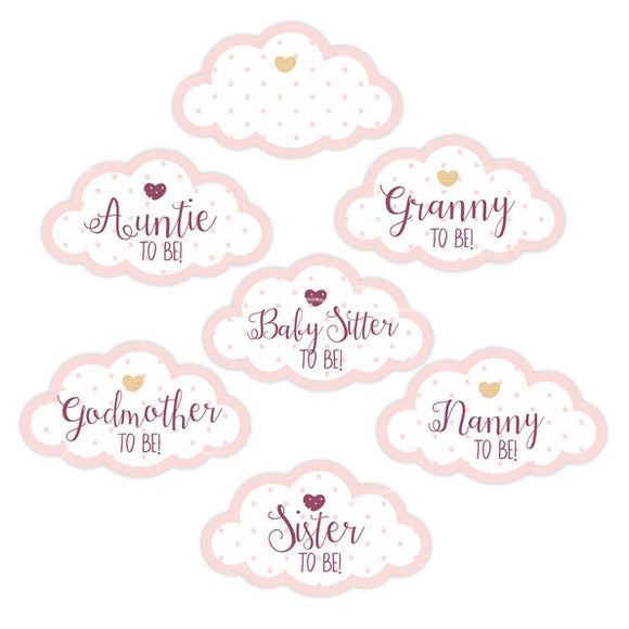 'Oh Baby' Guest Stickers (Pink)