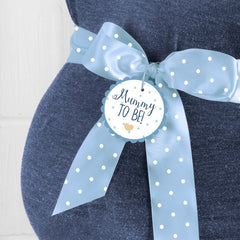 'Ready To Pop' Mummy To Be Sash (Blue)