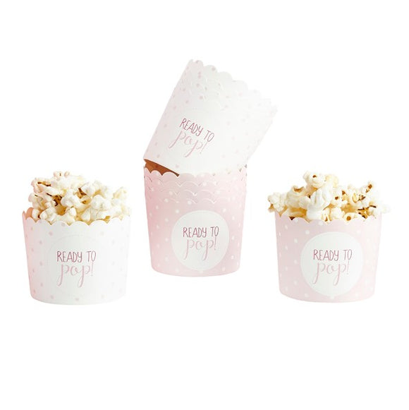Wholesale 'Oh Baby' Paper Food Cups (Pink)