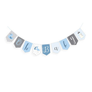 Wholesale 'Oh Baby' Baby Shower Bunting (Blue)