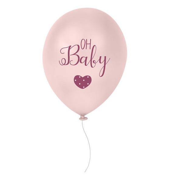 Wholesale 'Oh Baby' Balloons (Pink)
