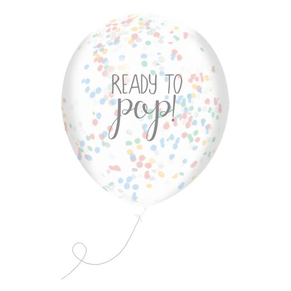 Wholesale 'Oh Baby' Confetti Balloons (Unisex)