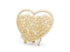 Wooden Guest Book - Heart