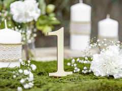 Wooden Table Numbers - 1 to 10