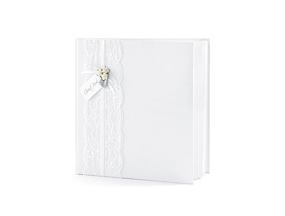 Wholesale White / Lace Guest Book