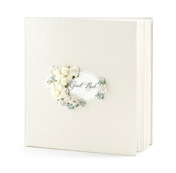 Wholesale Pearl / Flowers Guest Book