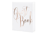 WHOLESALE White Guest Book - Rose Gold