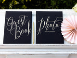 Black Guest Book - Gold