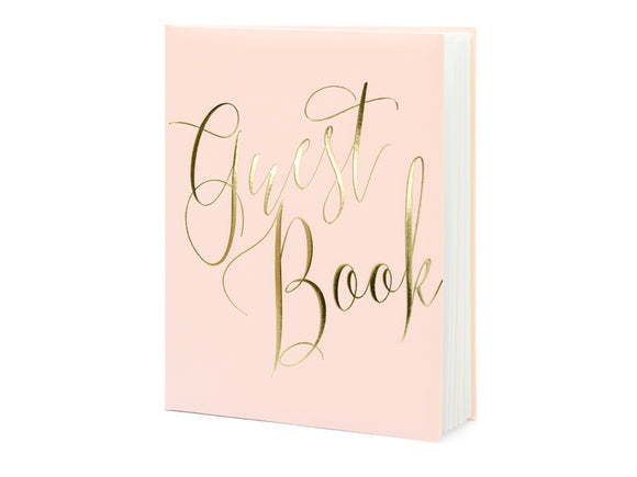 WHOLESALE Powder Pink Guest Book - Gold