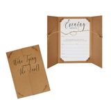 Hearts and Krafts Evening Wedding Invitations - 10 Pack