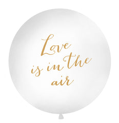1 Metre Balloon Gold - 'Love is in the air'