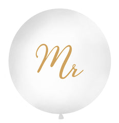 1 Metre Balloon Gold - 'Mr'