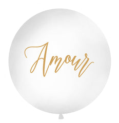 1 Metre Balloon Gold - 'Amour'
