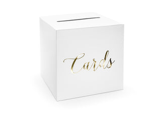 Wholesale White And Gold Card Posting Box