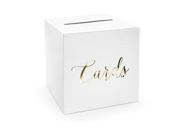 White And Gold Card Posting Box