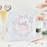 Marble / Rose Gold Guest Book