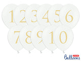 WHOLESALE Balloon Table Numbers - White