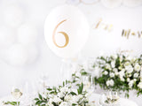 Balloon Table Numbers - White