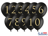 Balloon Table Numbers - Black