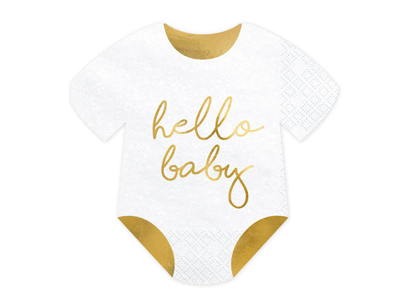 Hello Baby Paper Napkins - 20 Pack