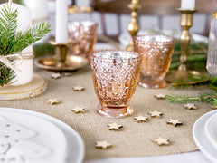 Vintage Speckled Votive Holder - Rose Gold