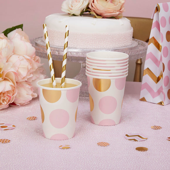 Wholesale 'Pattern Works' Paper Cups - Pink
