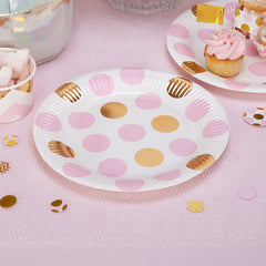 'Pattern Works' Paper Plates - Pink
